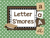Letter S'mores - Camping themed letter practice