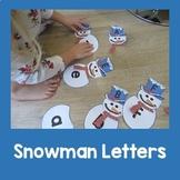 Letter Snowmen A-Z