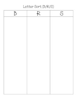 Letter Sort (B/R/S)