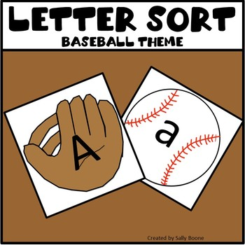 Letter Sort - Baseball Theme
