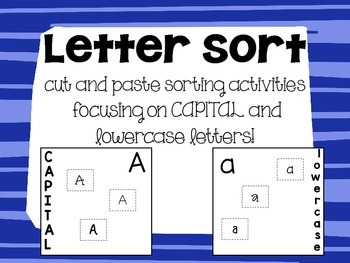 Letter Sort - Capital and Lowercase Cut and Paste Worksheets