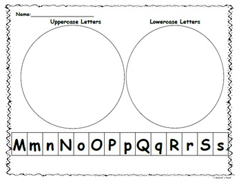- Letter Sort Capital/Lowercase Mm-Ss