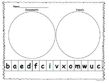 Letter Sort Consonants/Vowels