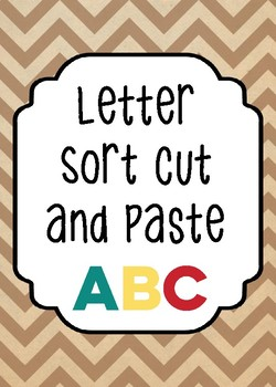 Letter Sort Cut and Paste