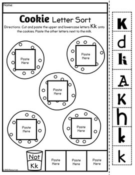 Letter Sort Cut and Paste ● Alphabet Sorting ● Cookie