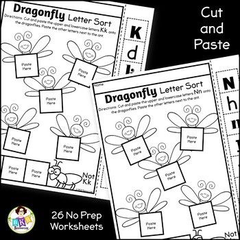 Letter Sort Cut and Paste ● Alphabet Sorting ● Dragonfly