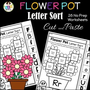 Letter Sort Cut and Paste ● Alphabet Sorting ● Flower Pot