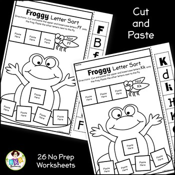 Letter Sort Cut and Paste ● Alphabet Sorting ● Froggy