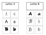 Letter Sort File Folder Game
