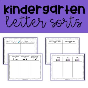 Letter Sort Literacy Center