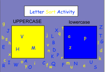 Letter Sort ~Smartboard Activity