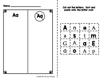 Letter Sort Worksheets - No Prep