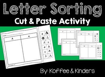 Letter Sorts Cut and Paste [[ENTIRE ALPHABET!!]]