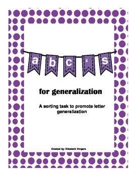 Letter Sort for Generalization