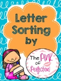 Letter Sorting-Cut & Paste Printables