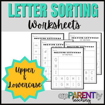 Letter Sorting Cut and Paste Bundle
