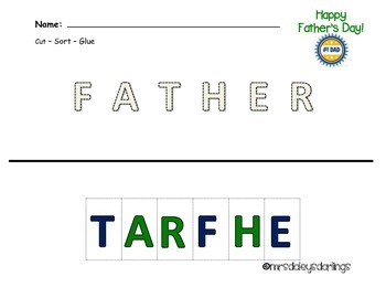 Letter Sorting - Father's Day