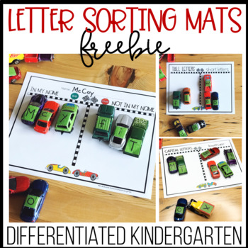Letter Sorting Fun Mats for Cars
