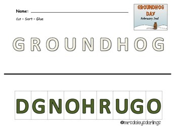 Letter Sorting - Groundhog Day