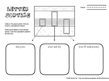 Letter Sorting & Handwriting Activity Pack