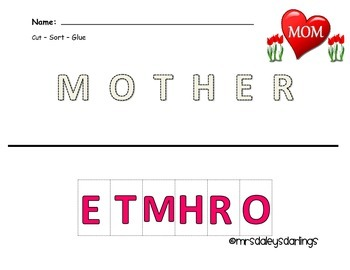 Letter Sorting - Mother's Day
