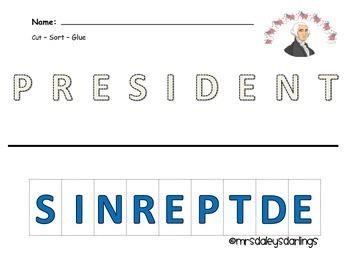 Letter Sorting - President's Day