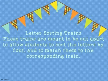 Letter Sorting Trains
