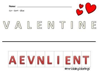 Letter Sorting - Valentine's Day
