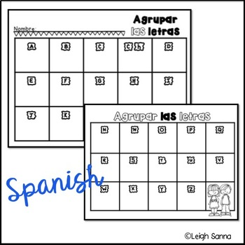 Letter Sorting and Idenfitication (English & Spanish)