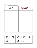 Letter Sorts A-Z (Lower case and Capitals) for Letter Recognition