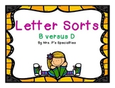 Letter Sorts: B versus D