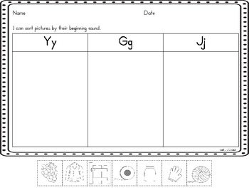 Letter Sorts {Beginning Sounds}