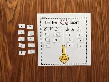 Letter Sorts - D'Nealian