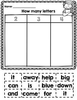 Letter Sorts for Kindergarten