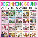 Letter Recognition & Letter Sound Activities | Initial Sounds Activities BUNDLE