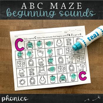 Letter Sound Alphabet Maze