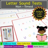 Letter Sound Assessment - Multiple Color Fonts and Thin Border Options