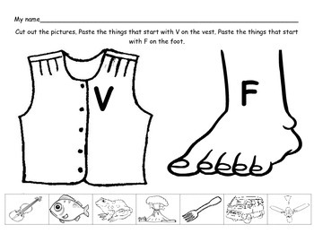 Letter Sound Assessment: M and N, F and V