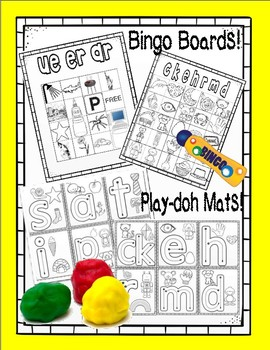 Letter Sound BINGO and PLAY DOH Mats !