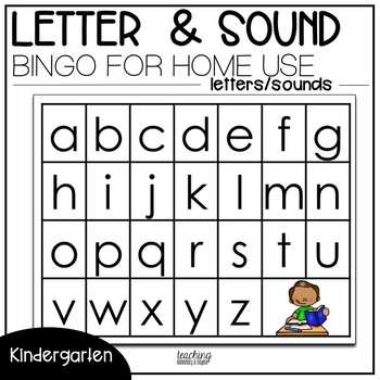 Letter and Sound Bingo for Homework Use