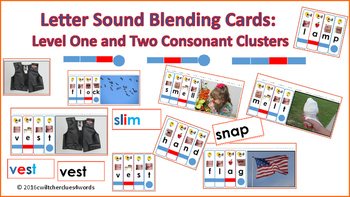 Letter Sound Blending Cards Consonant Clusters