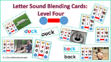 Letter Sound Blending Cards Level Four