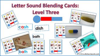 Letter Sound Blending Cards Level Three