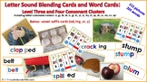 Letter Sound Blending Cards: Level Three and Four Consonan