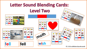 Letter Sound Blending Cards Level Two