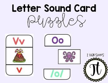 Letter Sound Card Puzzles