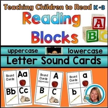 Letter Sound Cards A-Z  Alphabet Picture Cards Uppercase and Lowercase