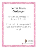 Letter Sound Challenges