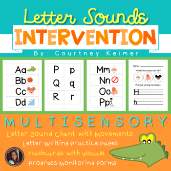 Letter Sound Chant & Activities Intervention Pack