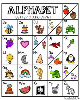 Writing Center Letter Sound Chart by KinderTails